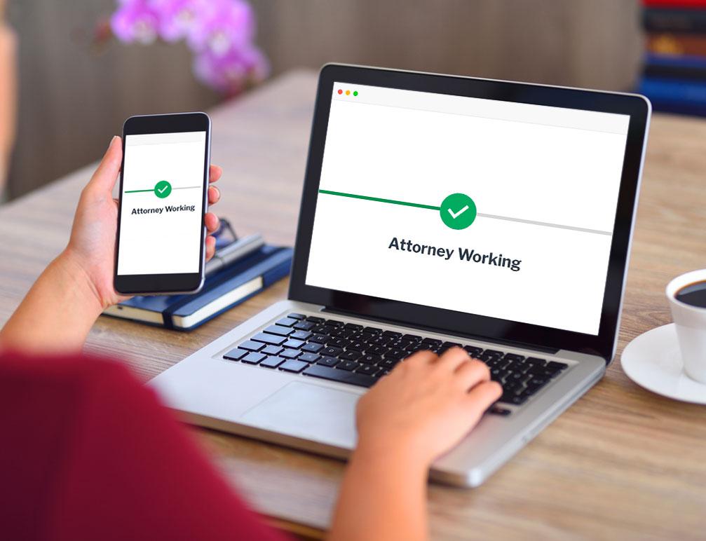 website attorney working